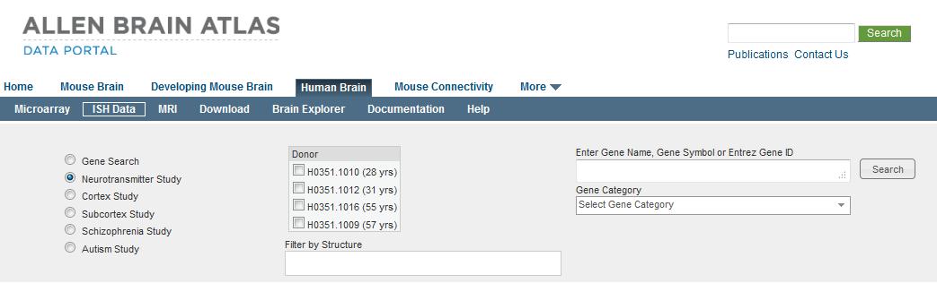 In Situ Hybridization (ISH) Data - Allen Human Brain Atlas
